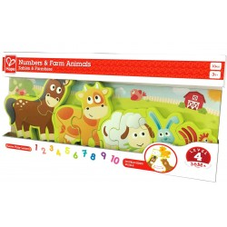 Puzzle Numbers & Farm Animals