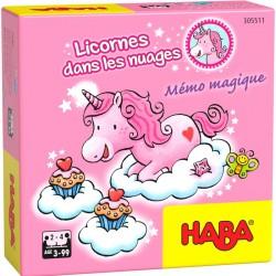 Licornes dans les nuages – Mémo magique