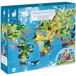 Puzzle éducatif géant Les Animaux Menacés