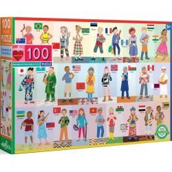 Puzzle Enfants du monde (100 pièces)