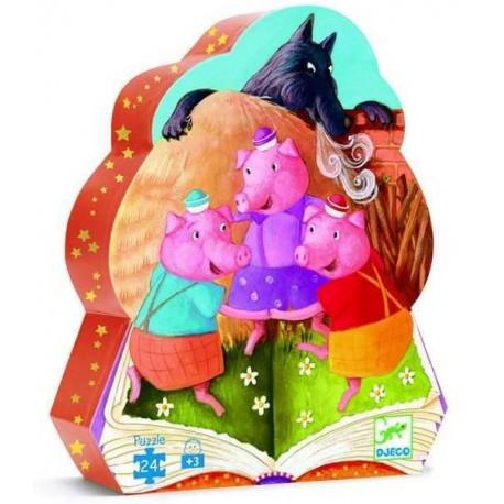 Puzzle conte: les trois petits cochons