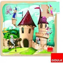 Puzzle bois château