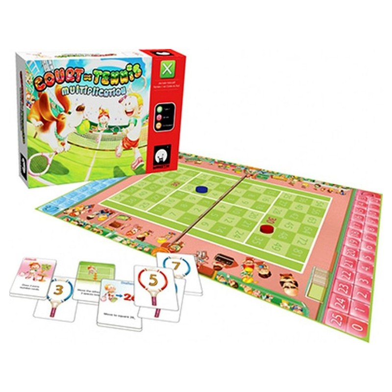 Court de tennis multiplication jeu de soci t monster kids for Jeu des multiplications