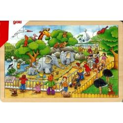Puzzle bois Journée au zoo