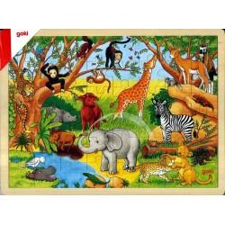 Puzzle bois Afrique