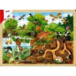 Puzzle bois Découverte de la nature