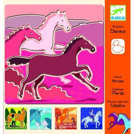 Pochoirs chevaux
