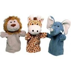 Animaux sauvages (lot de 3 marionnettes)