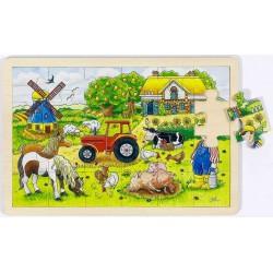 Puzzle bois Ferme des meuniers
