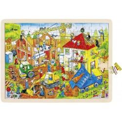 Puzzle bois Chantier