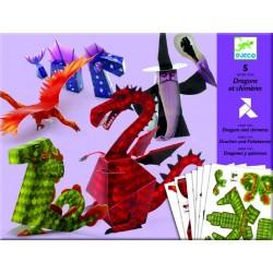Paper toys Dragons et chimères