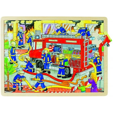 Puzzle bois Brigade de pompiers