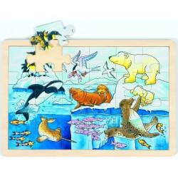 Puzzle bois Animaux polaires