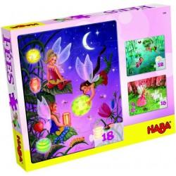 3 Puzzles fées et elfes