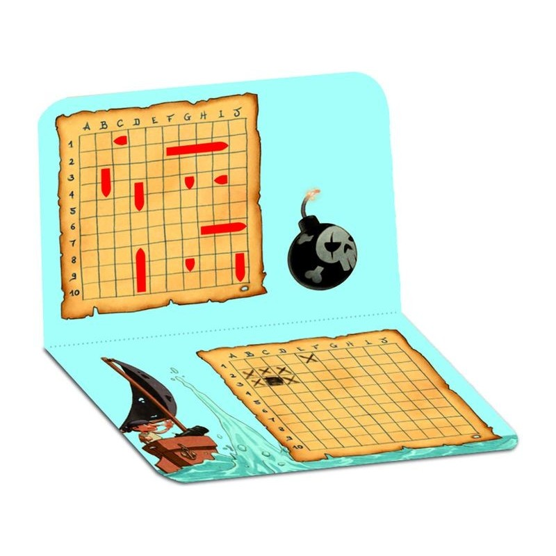 Mini logix bataille navale jeu de logique de voyage djeco - Grille de bataille navale a imprimer ...