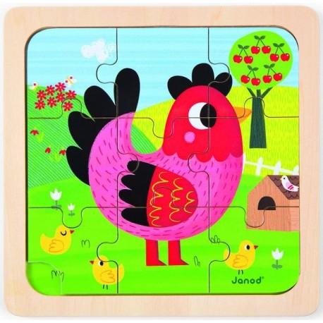 Puzzle poule Violette