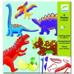 6 Pantins dinosaures