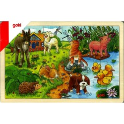 Puzzle bois Bébés animaux