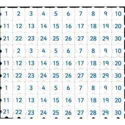 Morphun nombres de 1 à 30