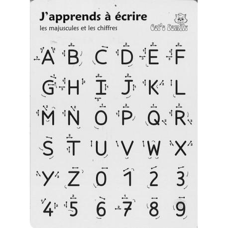 Graphoguide lettres majuscules et chiffres
