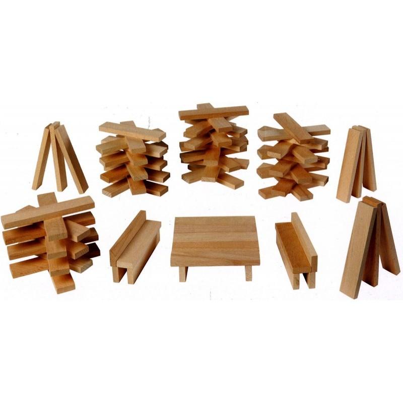 jeu de construction 200 planchettes goki nature. Black Bedroom Furniture Sets. Home Design Ideas