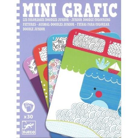 Mini Grafic Coloriages doodles junior