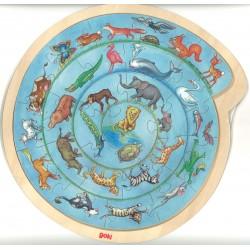 Puzzle bois Ronde des animaux