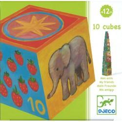 10 cubes Mes amis