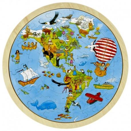 Puzzle Tour du monde Peggy