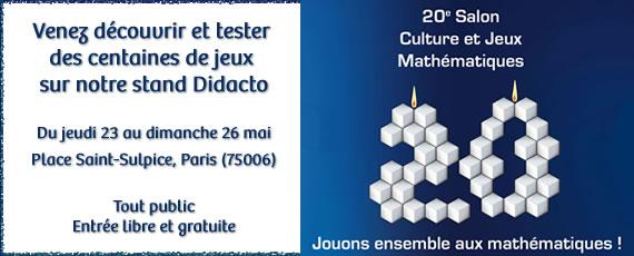 Salon Culture et Jeux Mathématiques 2019