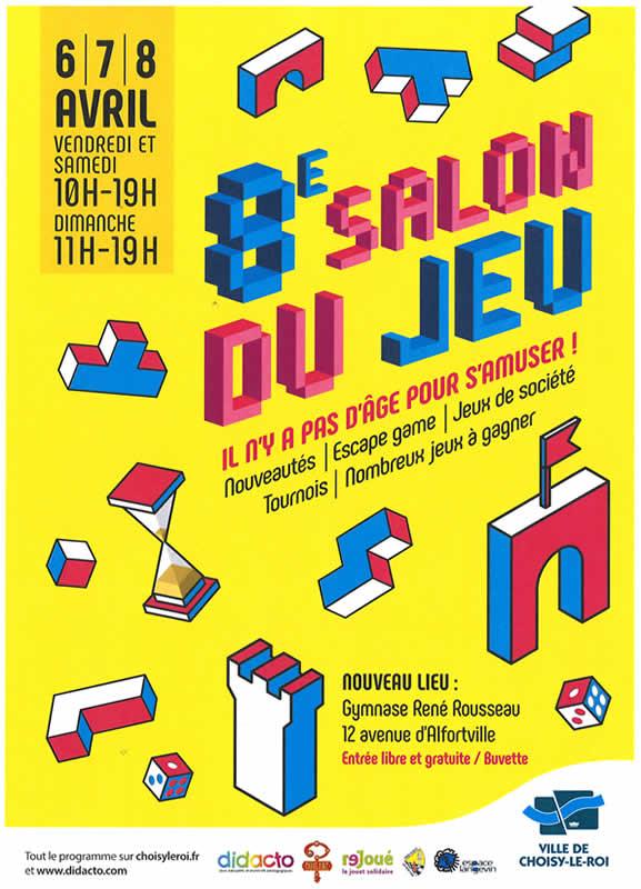 Affiche Salon du jeu de Choisy le Roi 2018